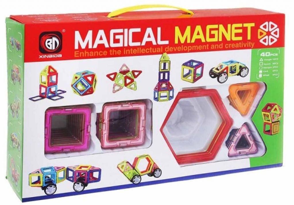 Bộ xếp hình nam châm Magical Magnetic 40 Chi Tiết